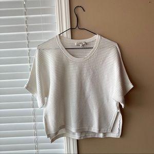 Babaton White Knit Shirt